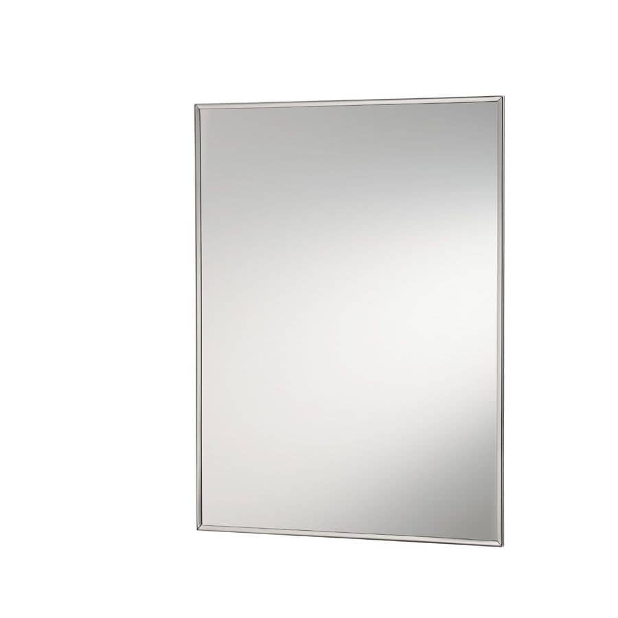 Jensen Styleline 18-in x 36.125-in Rectangle Surface Mirrored Steel Medicine Cabinet