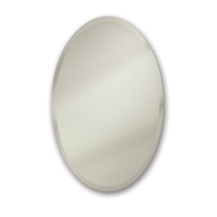 jensen metro oval 24in x 35875in oval mirrored steel