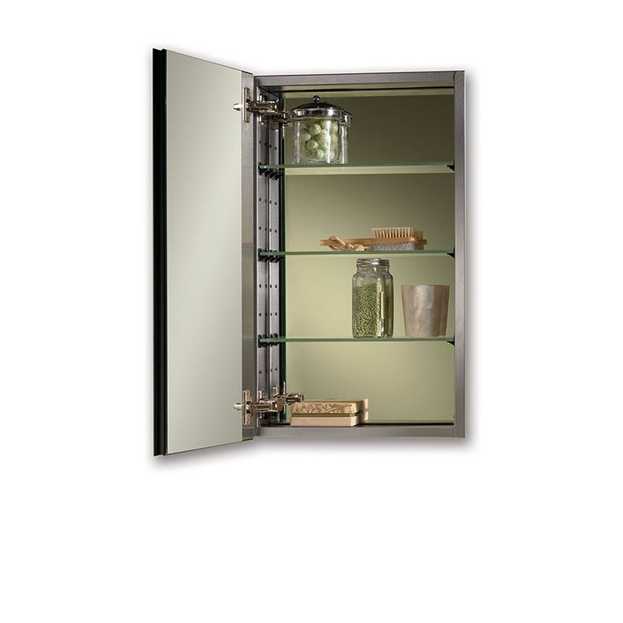 Jensen Studio Iv 15 In X 25 Rectangle Surface Recessed Mirrored Stainless