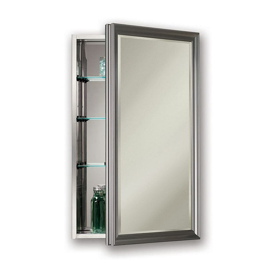 Jensen Studio V 15 In X 25 In Rectangle Surfacerecessed Mirrored