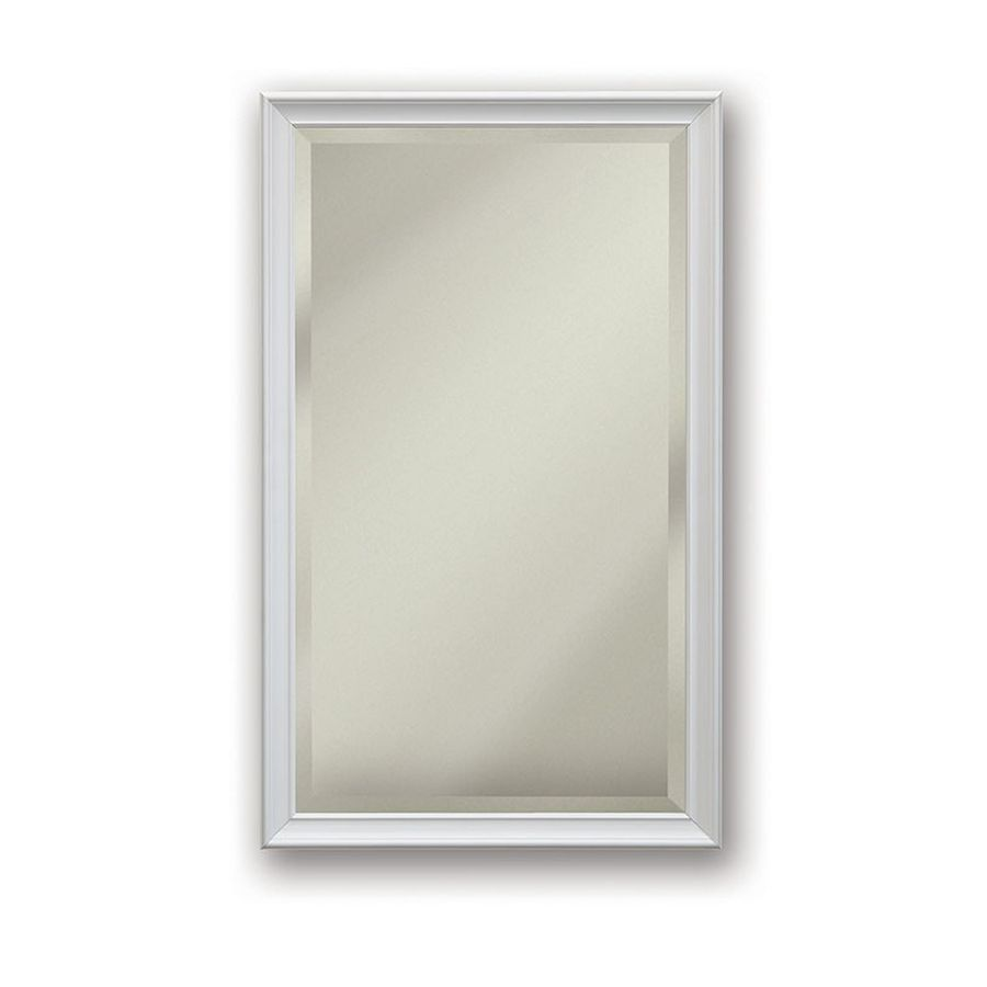 Jensen Studio V 15-in x 25-in Rectangle Surface/Recessed Mirrored Stainless Steel Medicine Cabinet