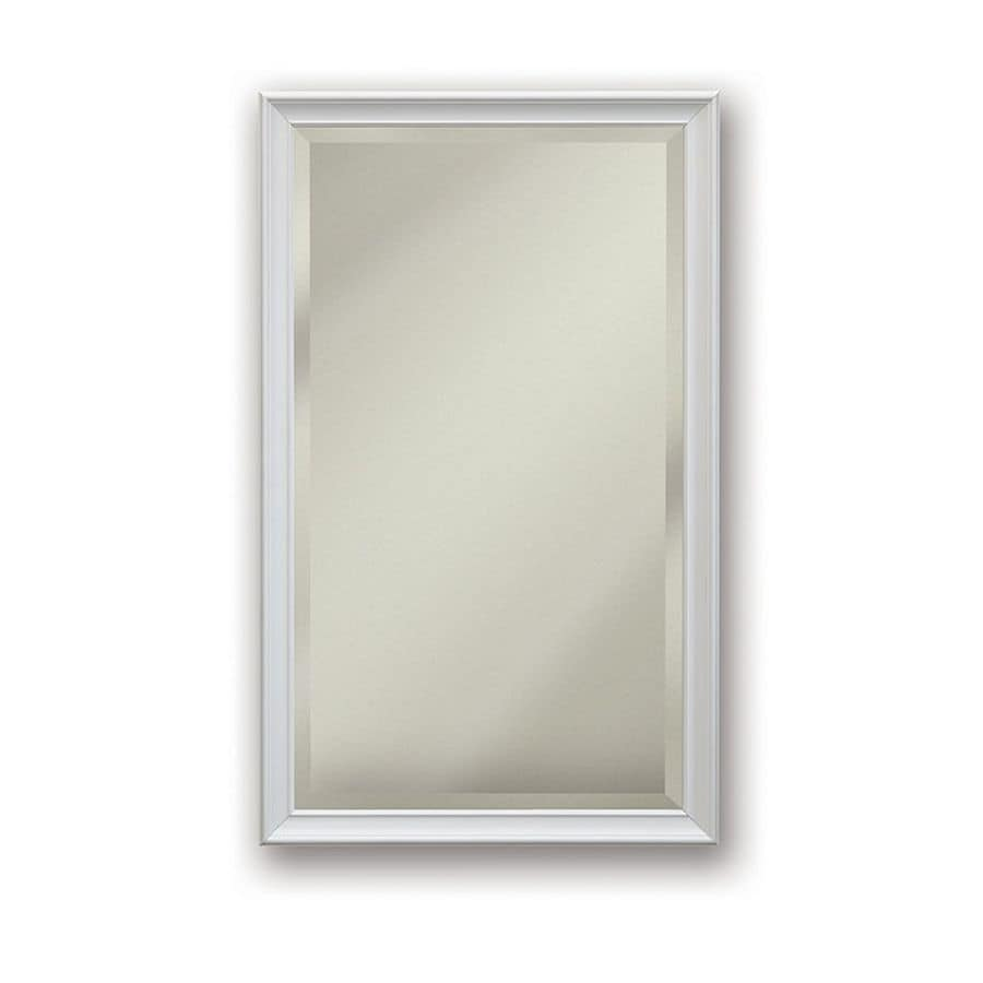 Jensen Studio V 15-in x 35-in Rectangle Surface/Recessed Mirrored Stainless Steel Medicine Cabinet