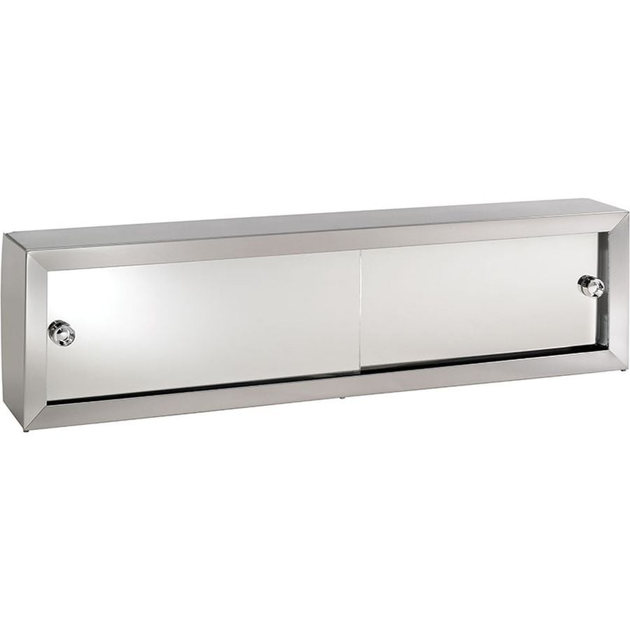 Jensen Cosmetic Boxes 24.25-in x 8.75-in Rectangle Surface Mirrored Steel Medicine Cabinet