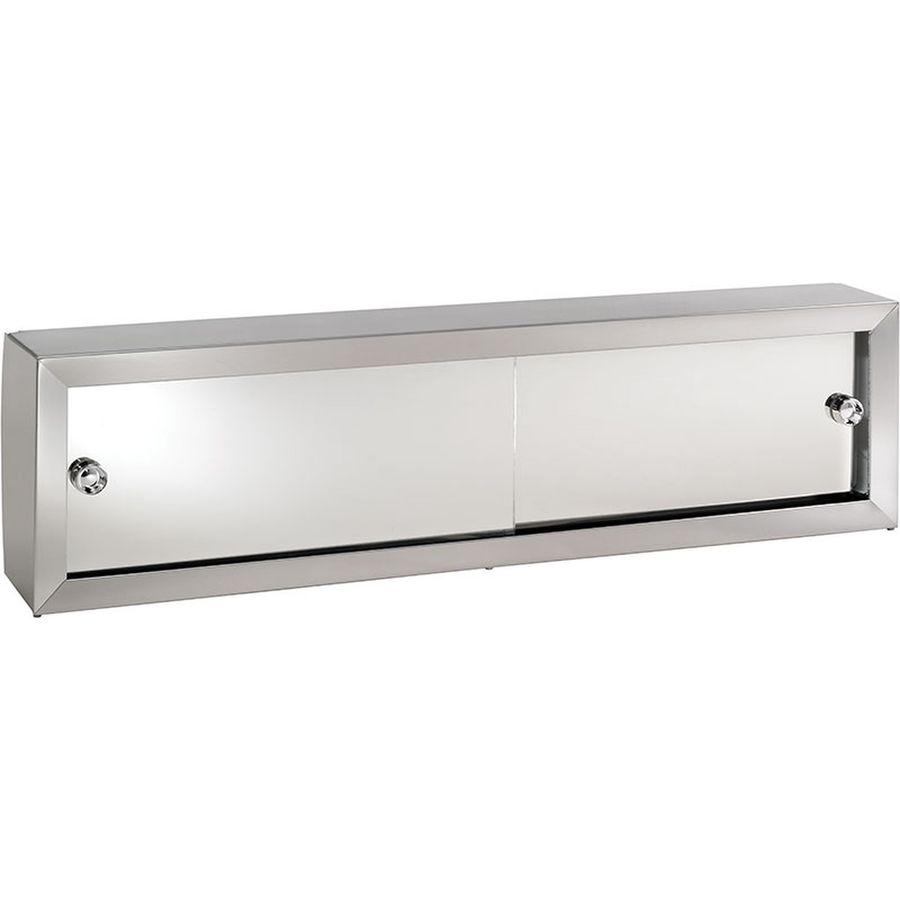 Jensen Cosmetic Boxes 30.25-in x 8.75-in Rectangle Surface Mirrored Steel Medicine Cabinet