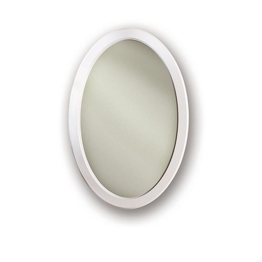 Merveilleux Jensen Dunhill 21 In X 31 In Oval Recessed Poplar Mirrored Steel Medicine  Cabinet