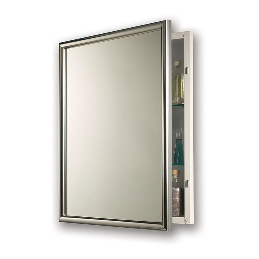 Jensen Harmony 24-in x 30-in Rectangle Recessed Mirrored Steel Medicine Cabinet