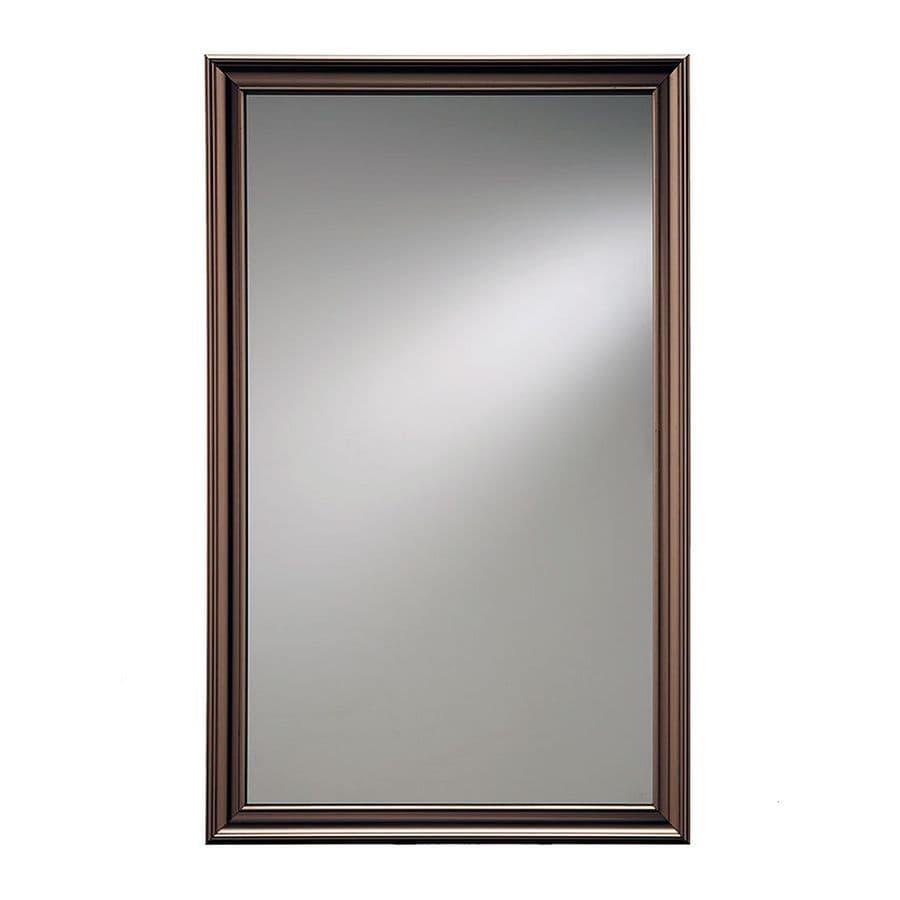 Jensen Ashton 15.75-in x 25.5-in Rectangle Recessed Mirrored Steel Medicine Cabinet