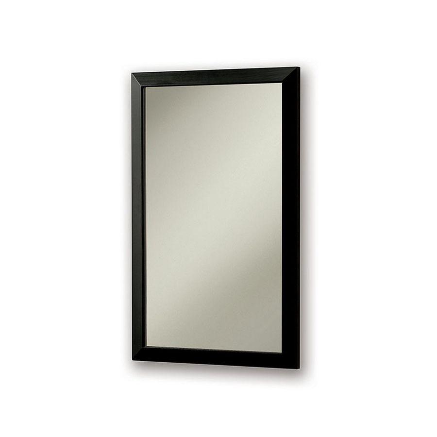 Jensen City 16.5-in x 26.5-in Rectangle Surface/Recessed Poplar Mirrored Steel Medicine Cabinet