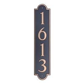 718ecdaf835b Dekorra 18-in H x 4-in W Copper on Black Plastic Address Plaque