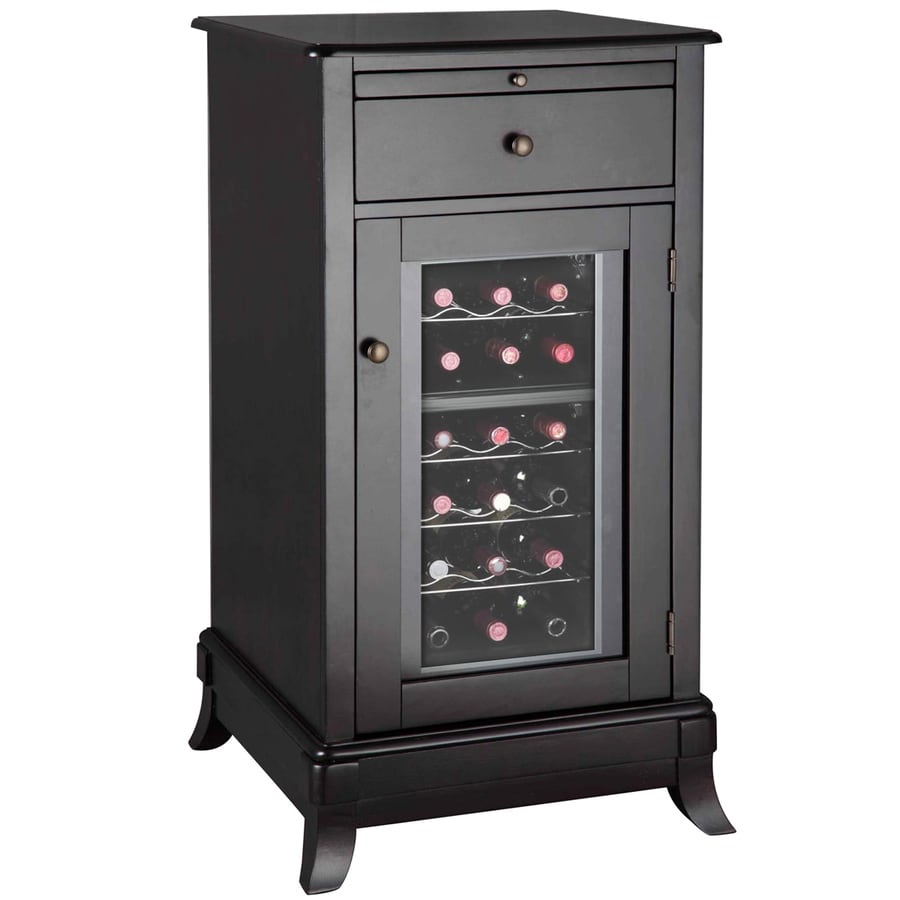 Vinotemp 18-Bottle Rich Dark Brown Wine Chiller