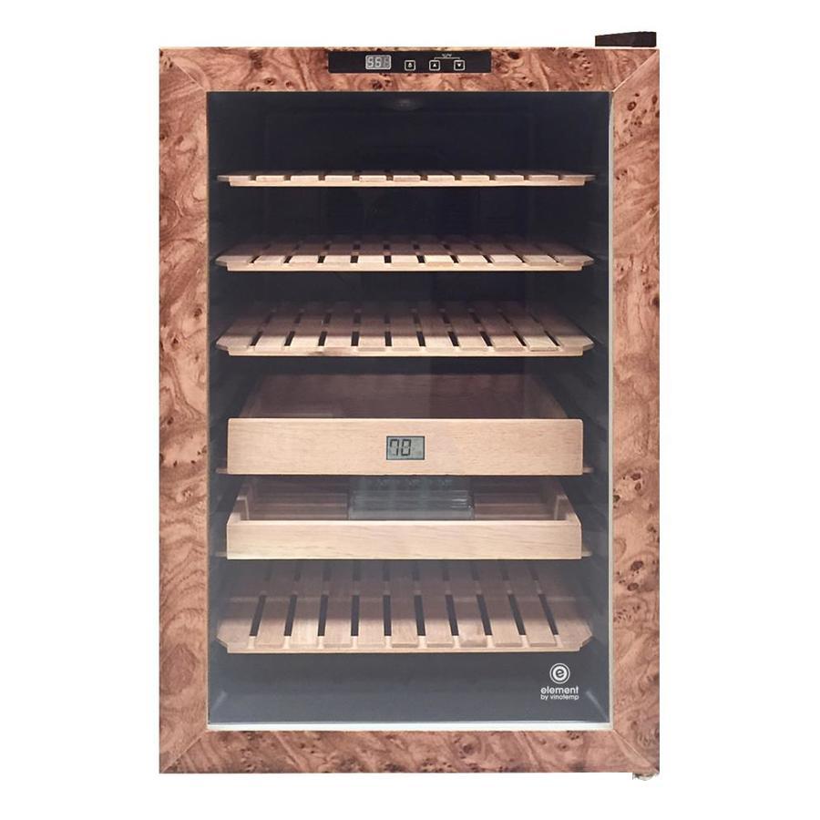 Vinotemp 28 7 In X 17 20 Wood Finish Freestanding Desktop