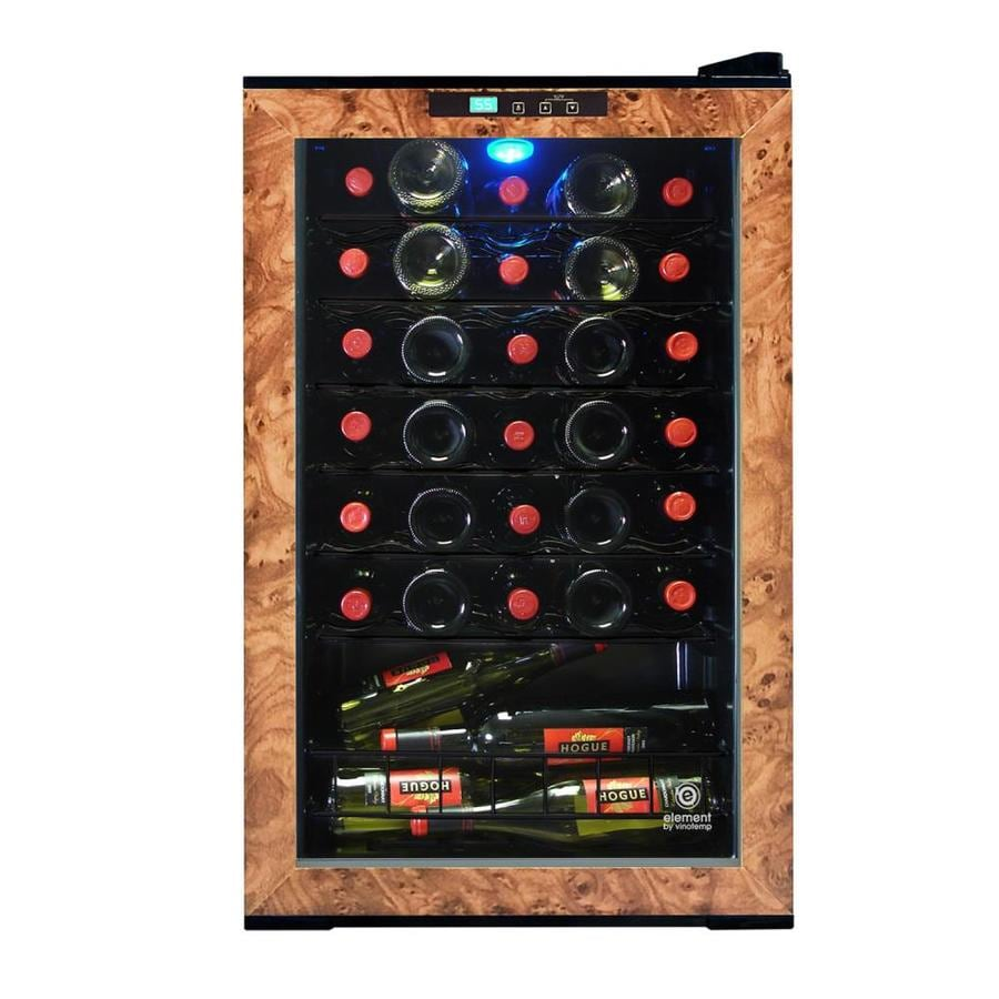 Vinotemp 28 Bottle Capacity Black And Brown Freestanding