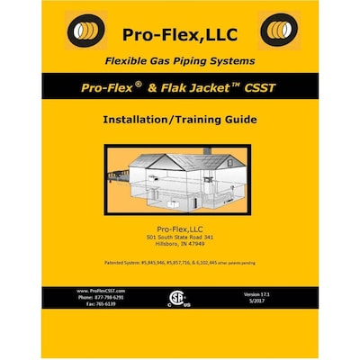 PRO-FLEX Pro-Flex CSST Installation/Training Guide Plumbing