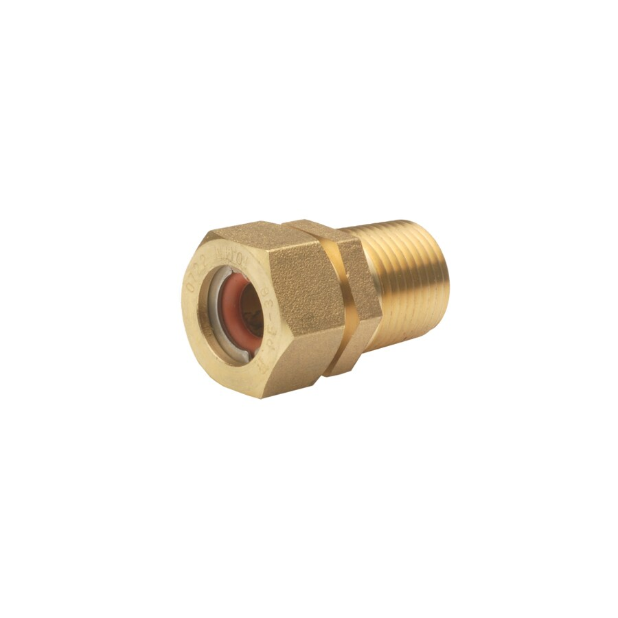 PRO-FLEX 3/8-in x 1/2-in Threaded Gas Flare x MIP Adapter Fitting