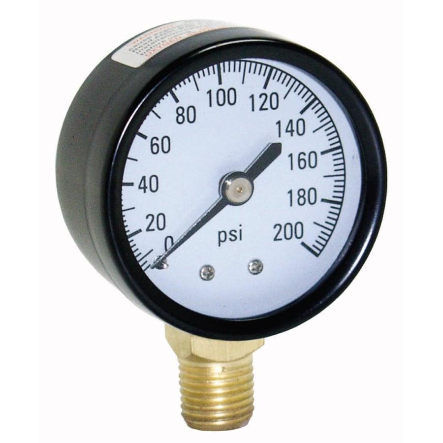 ProPlumber Plastic/Steel Pressure-Gauge