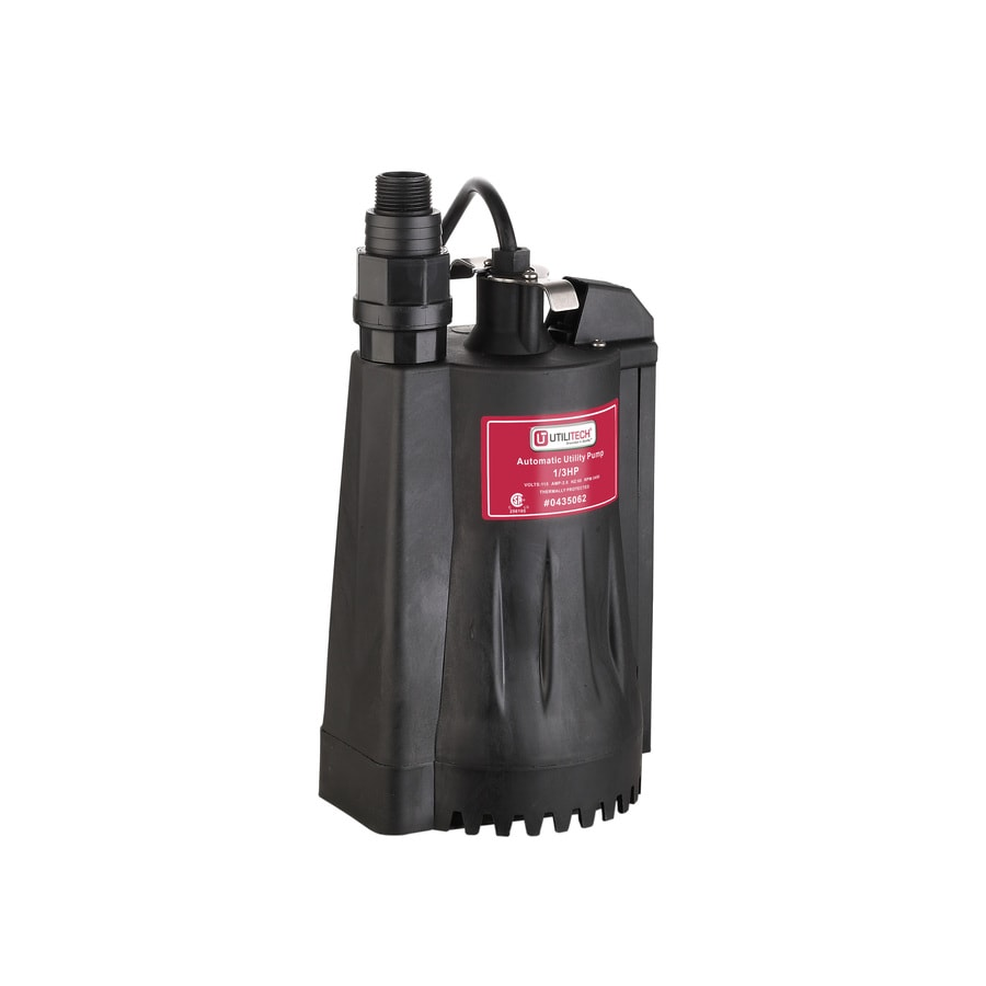 Shop Water Pumps At Electronic Watchdog Kit Quality Electronics Store Kingston Ontario Utilitech 033 Hp Thermoplastic Submersible Utility Pump