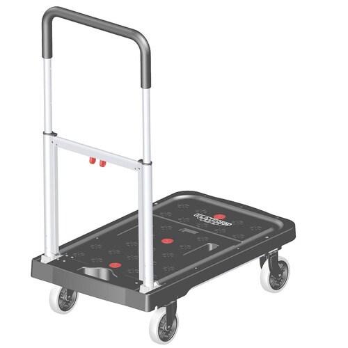 Magna Cart 300 Lb 4 Wheel Black