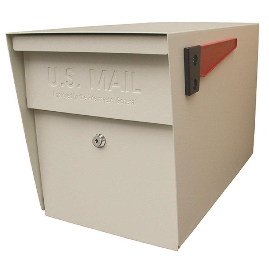 Mail Boss Curbside Extra Large Metal White Post Mount Locking Mailbox In The Mailboxes Department At Lowes Com
