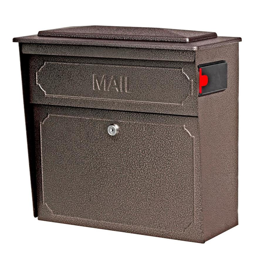Mail Boss Townhouse 15.75-in x 16-in Metal Bronze Lockable Wall Mount Mailbox