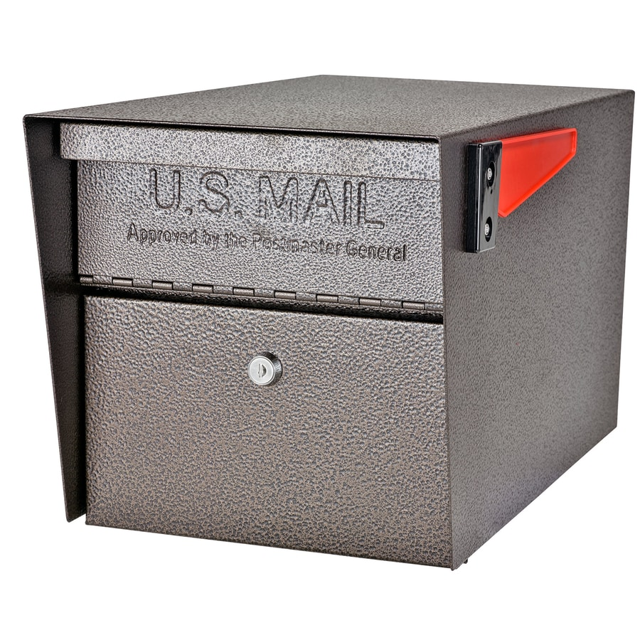 Mail Boss Manager 10 75 In W X 11 25 H Metal Bronze Post