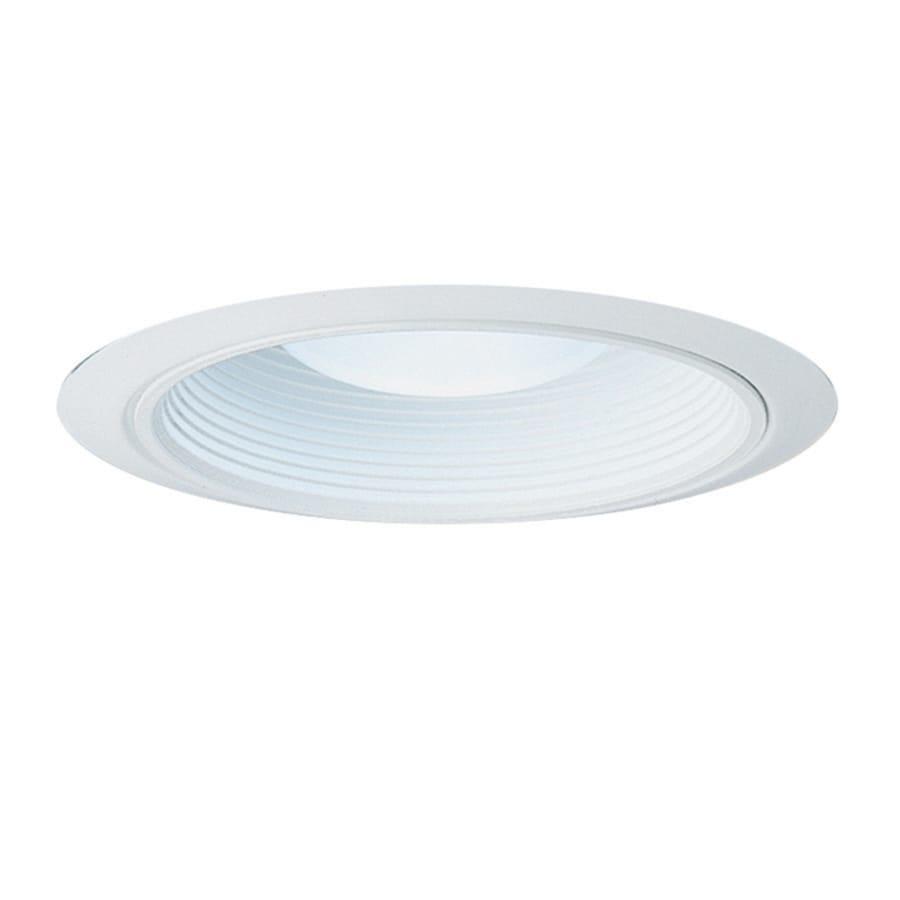 Juno Bathroom Light Fixtures shop juno white baffle recessed light trim (fits housing diameter