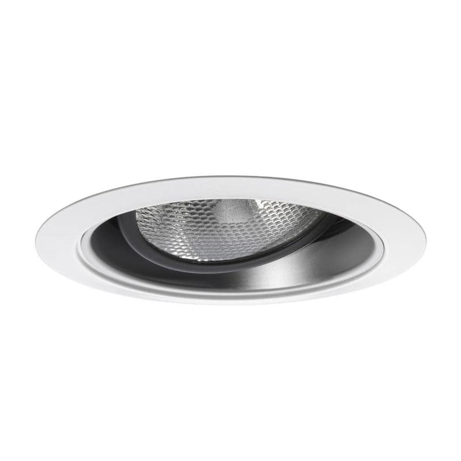Ceiling Trim Lowes: Juno 6-in White Gimbal Recessed Recessed Ceiling Light