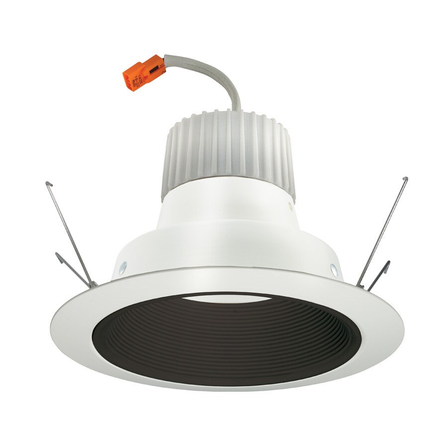 Juno 75-Watt Equivalent Black Dimmable LED Recessed Retrofit Downlight (Fits Housing Diameter: 6-in)