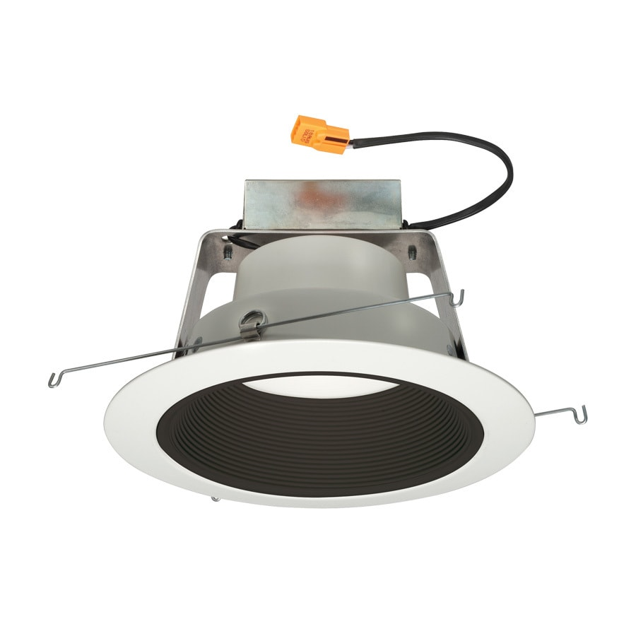 Juno 65-Watt Equivalent Black Dimmable LED Recessed Retrofit Downlight (Fits Housing Diameter: 6-in)