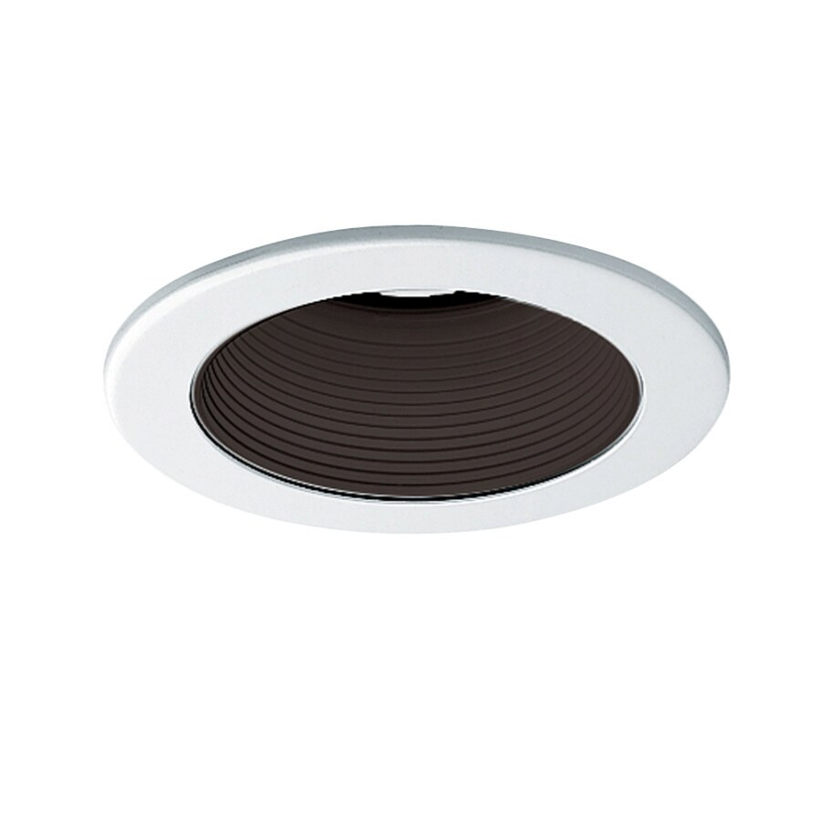 Juno Black/White Baffle Recessed Light Trim (Fits Housing Diameter: 4-in)