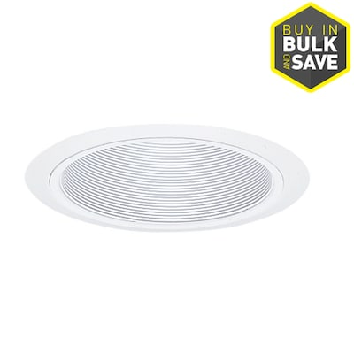 White Baffle Recessed Light Trim Fits Housing Diameter 6 In