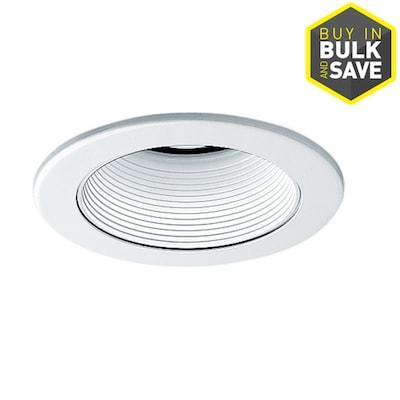 White Baffle Recessed Light Trim Fits Housing Diameter 4 In