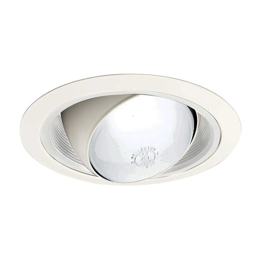 Juno Juno Downlights White Eyeball Recessed Light Trim (Fits Housing Diameter: 6-in)