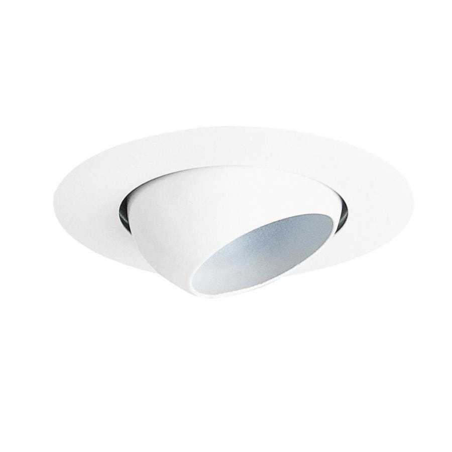 Juno White Eyeball Recessed Light Trim (Fits Housing Diameter: 4 In)