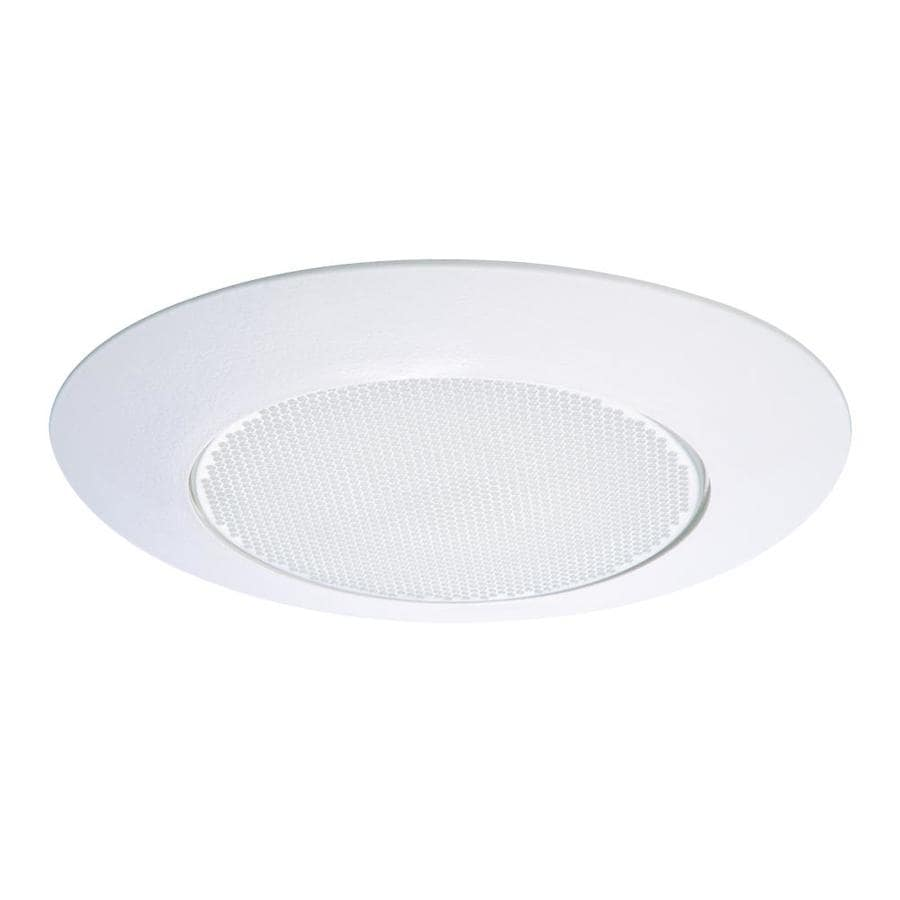 White Recessed Ceiling Light Albalite Glass Lens Trim Halo 6 in