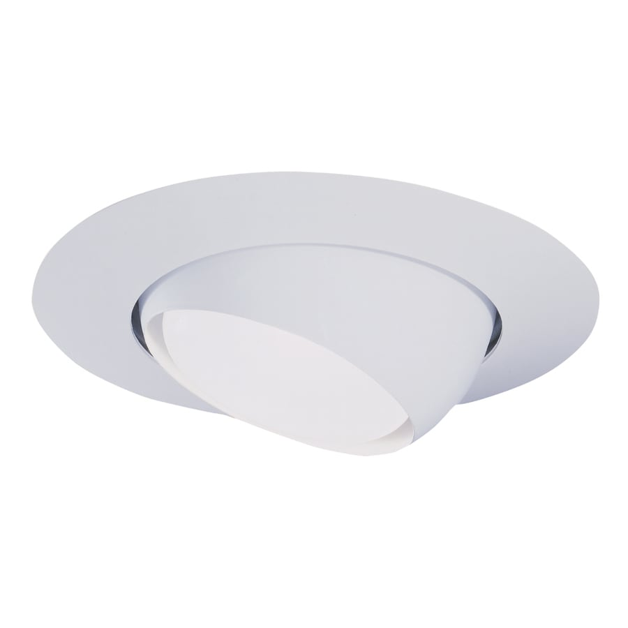 Halo White Eyeball Recessed Light Trim (Fits Housing Diameter: 6 In)