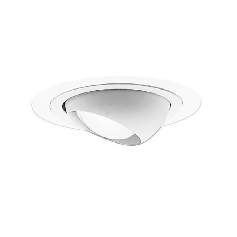 Shop cooper lighting white eyeball recessed light trim fits housing cooper lighting white eyeball recessed light trim fits housing diameter 4 in aloadofball Choice Image