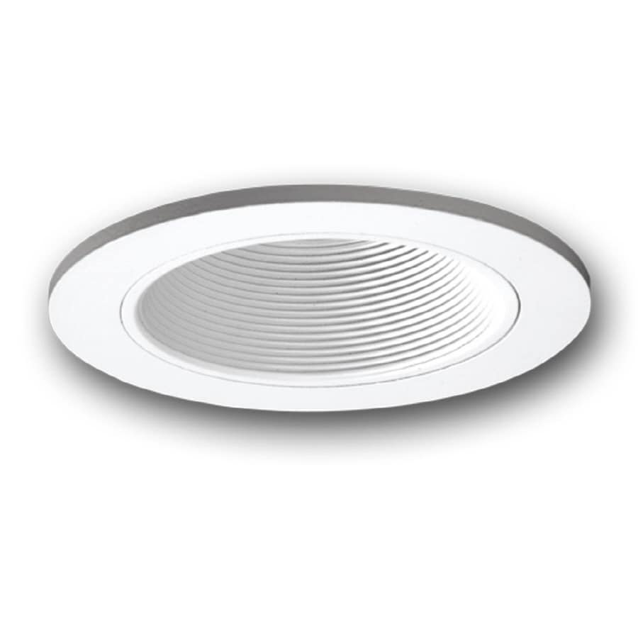 All Pro 6 In White Baffle Recessed Lighting Trim