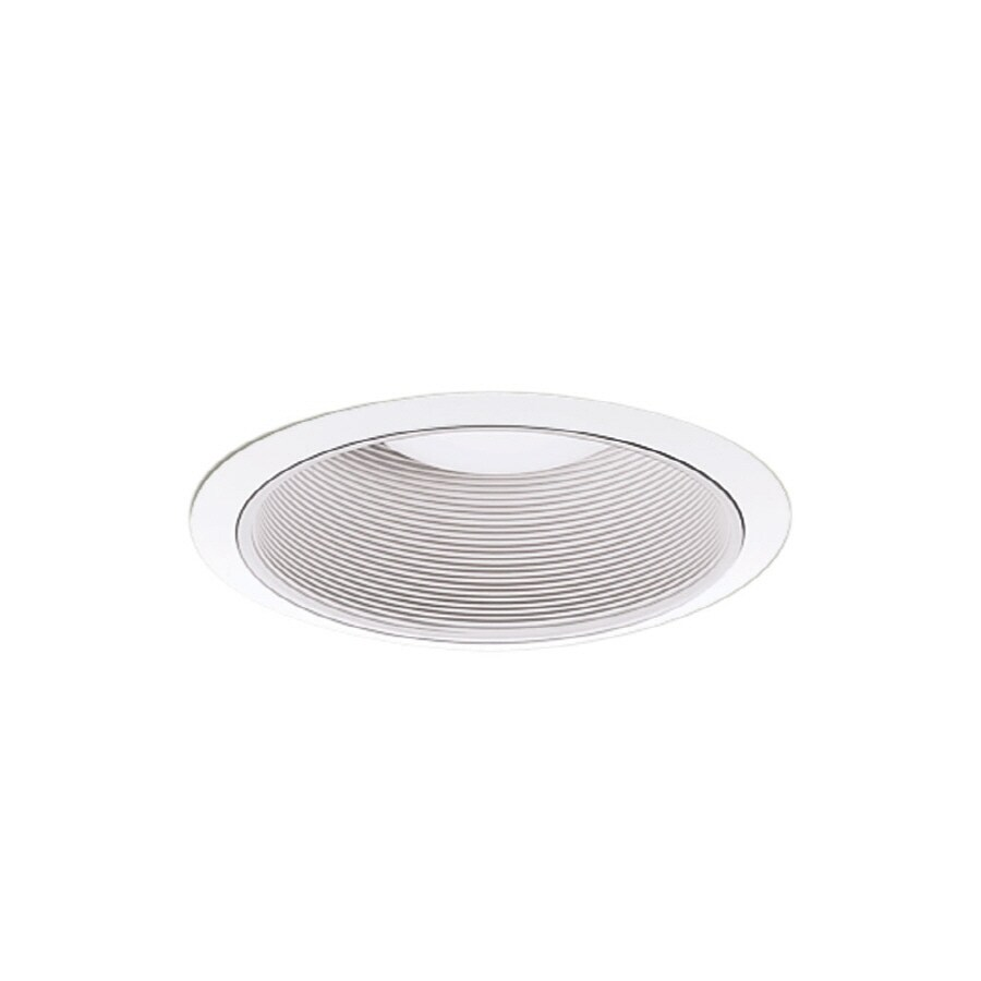 All Pro 4 In White Baffle Recessed Lighting Trim