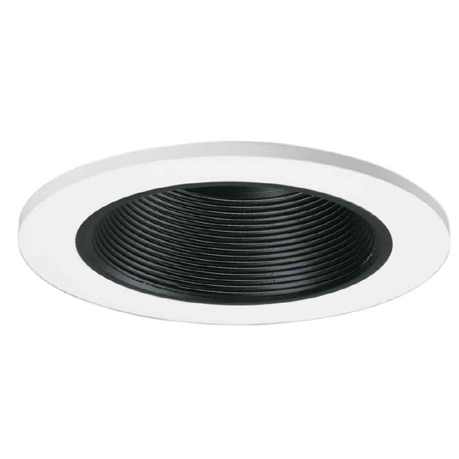 All Pro 4 In White With Black Baffle Recessed Lighting Trim
