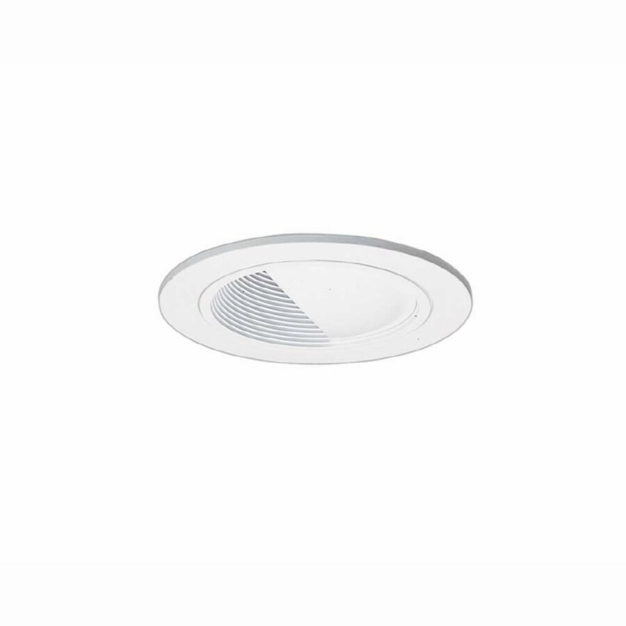 All-Pro White Baffle Recessed Light Trim (Fits Housing Diameter: 4-in)