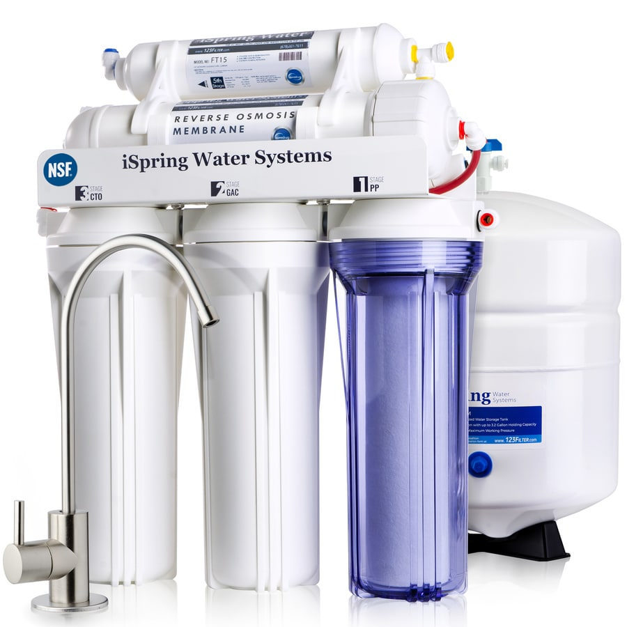 c429833559f iSpring RCC7 75GPD 5 Stage RO Water Filter System 5-stage Mechanical Filtration  Reverse Osmosis Filtration Under Sink Water Filtration System