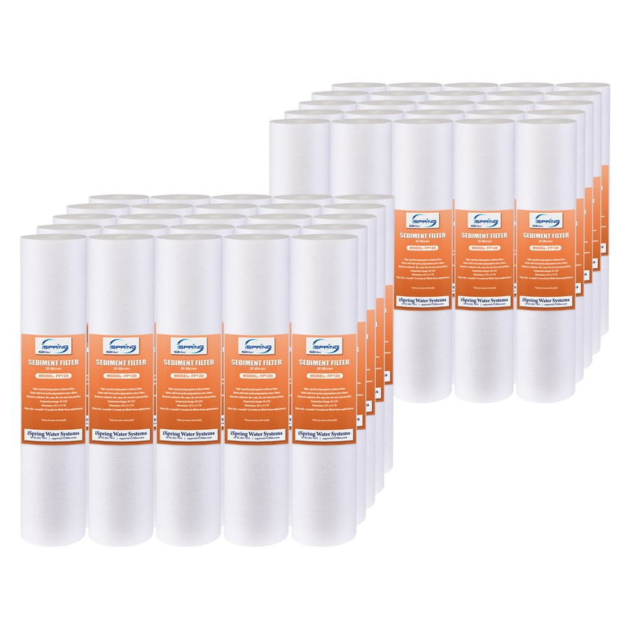 Ispring Fp120x50 20 Micron Universal Sediment Filter 50 Pack Sediment And Particulate Under Sink Replacement Filter In The Replacement Water Filters Cartridges Department At Lowes Com
