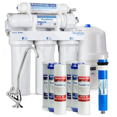 Puredrop Rtw5 Under Sink 5 Stage Ro With Extra Filter Set