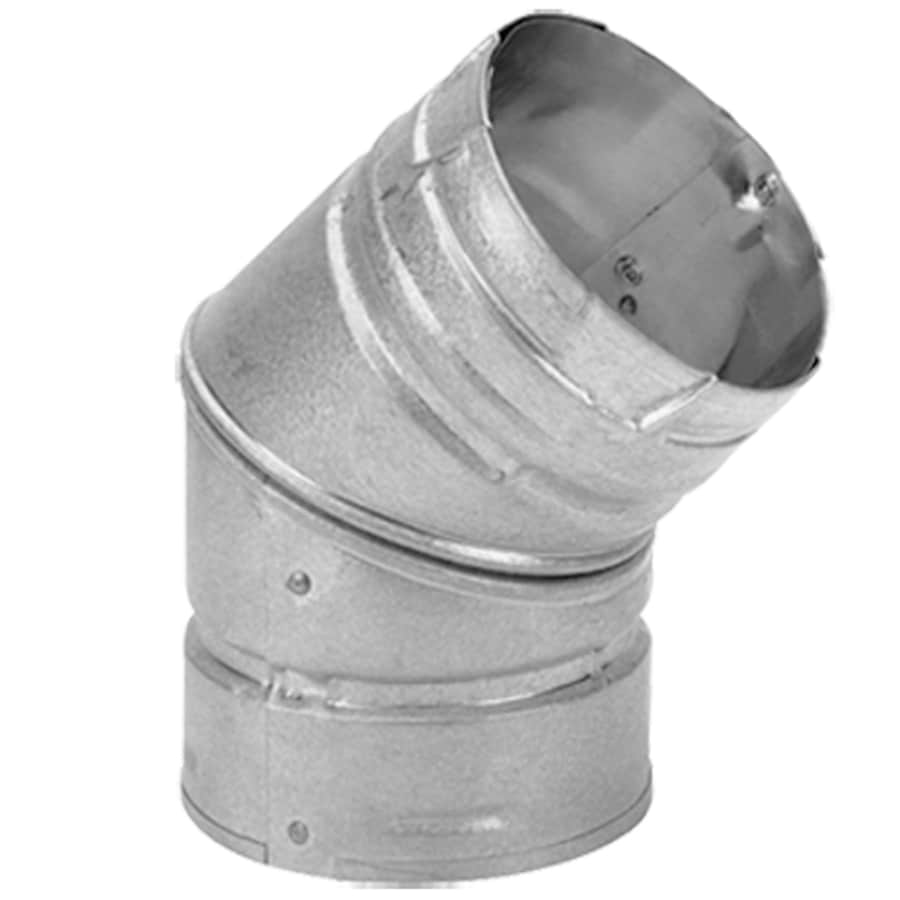 Simpson Dura-Vent Stainless Steel 45-Degree Elbow for Pellet Stove
