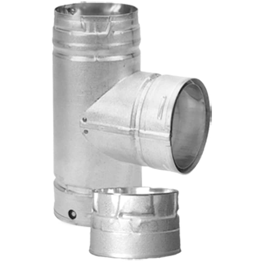 Duravent Stainless Steel Cleanout Tee For 3 In Vent Pipe