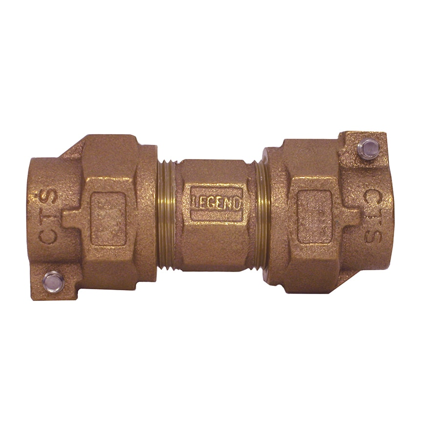 Legend Valve 1-in x 1-in Compression Coupling Union Fitting