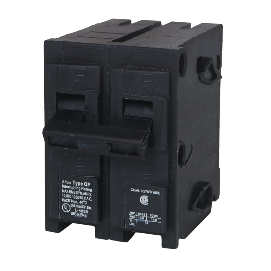 Shop Siemens Qp 50-Amp 2-Pole Double-pole Circuit Breaker at Lowes.com