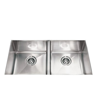 Kindred 18 In X 35 In Double Basin Stainless Steel