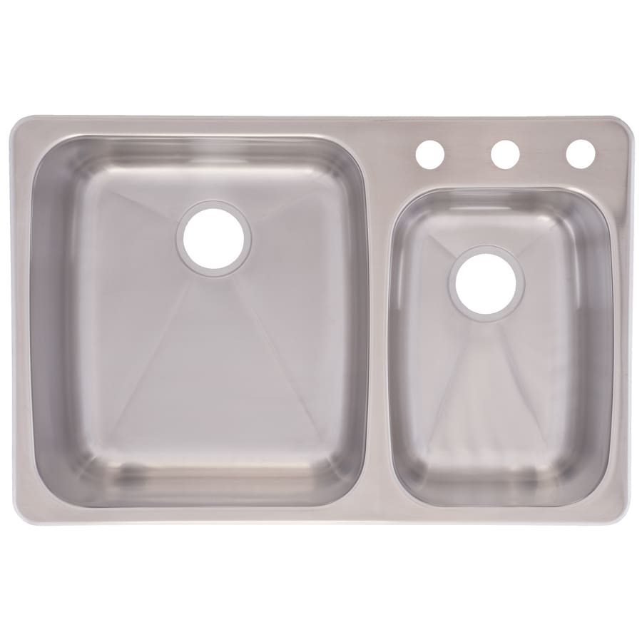 Kindred 18 Gauge Double Basin Dual Mount Stainless Steel Kitchen Sink