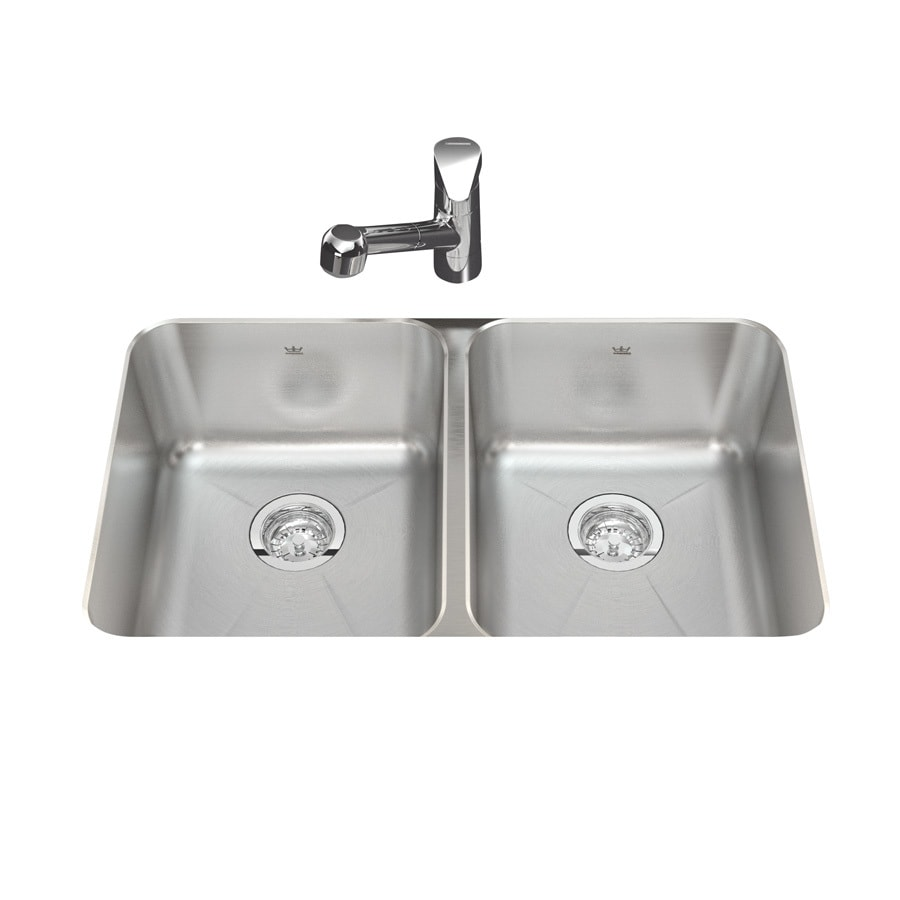 Shop kindred 31 in x silk deck and rim double - Kitchen sink rim ...